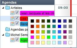 couleur agenda
